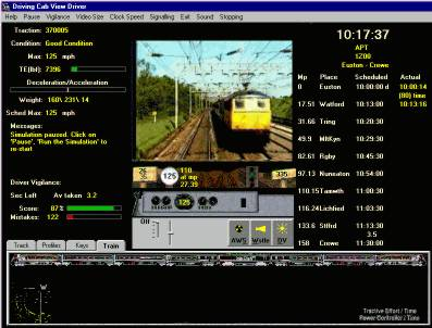 Screen shot from CABVIEWdriver © TRAINgames